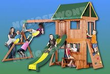 Wooden Fort Swingsets / by Tammy Smitherman