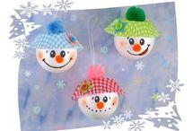 Kinder Winter Spiel/Bastelideen