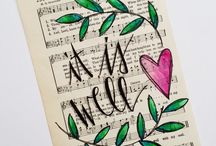 + Hymns & Songs--Bible Journaling / Bible Journaling examples that are related to Hymns and other songs.