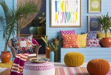 Island Way / Sunny brights and mixed patterns evoke a relaxed, breezy getaway feel. A space to refresh and unwind.