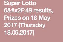 Super lotto 6/49 results