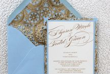 Regal blue & gold wedding