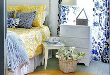 Yellow and blue farmhouse