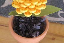 quilled flower pot