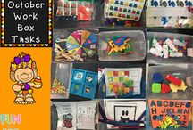 Work Boxes / work box ideas for early childhood special ed (preschool and kindergarten)