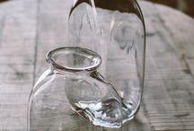 sklo, sklenice