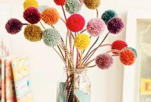 pompon bouquet