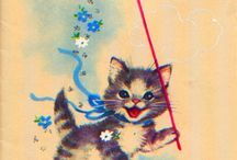 Vintage cats / meaow / miau!