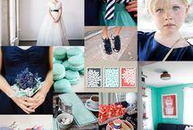 Wedding {navy, aqua & coral}