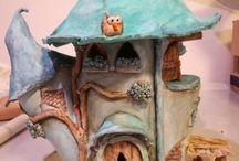 My handmade fairy houses