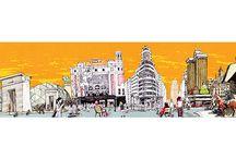 Sky line Madrid