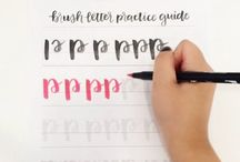 Brush lettering and calligraphy