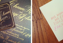 calligraphy/letterpress / by Pam Pauly