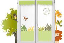 NOUVEAU : Habillage fenêtre pour chambre de bébé et d'enfants / Un nouveau concept décoratif des fenêtres de la chambre de bébés ou d'enfant, fille ou garçon, qui remplace les voilages et les rideaux.