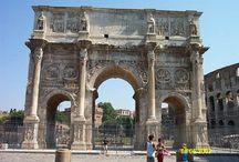 Romeinen-bouwkunst / Triomfboog, amfitheater, aquaduct