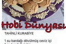 Hobi dünyası tahinli kurabiye