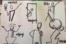 Bikablo icons en stick figures