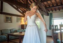 Linnea Myhre / Celebrity Linnea Myhre wearing Iris Noble at Villa Serego Alighieri in Verona.