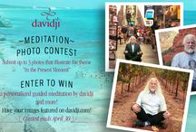 """""""In the Present Moment"""" Photo Contest / Win a personalized guided meditation by davidji! Submit up to 3 photos with the theme """"In the Present Moment"""" to photocontest@davidji.com. Winners will be announced after April 30!"""