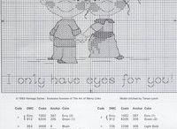 niños punto de cruz