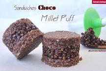 Sanduiches Choco Millet Puff / Sobremesa vegan, sem açúcar, sem glúten e sem soja. Feita com os Moldes para Sanduiches de Gelado Bambini. http://www.tescoma.pt/tescoma-para-criancas/acessorios-de-mesa-para-criancas/bambini/668234-molde-p/-sanduiches-de-gelado-bambini-3-pcs