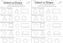 Shapes / Activities, lessons, and centers for teaching about flat shapes and solid shapes for prek, kindergarten, first grade, and second grade classrooms.