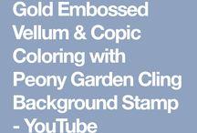 vellum embossing & colouring techniques