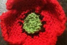 Knit flowers