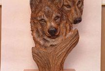 Резба и скульптуры из дерева / О творческих умельцев своего дела по дереву