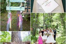 Woodland Weddings / Rustic forest weddings. Woodland weddings with rustic wedding ideas. Inspiration for a woodland style wedding.