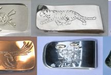 Money Clips / Money clips -Custom with what ever Hand engraved theme you can think of