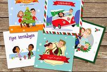Kerst Christmas / Kerst : kerstkaarten op maat! Een cartoon van jullie gezin! Christmas: Custom Christmas cards! A cartoon family portrait