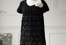 Crochet black dress