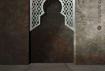 Moroccan and arabic alcove panels