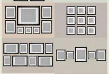 organizar quadros parede