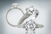 Classic Diamond Engagement Rings / The classic designs are some of our favorite diamond engagement ring styles. They posses of a kind of beauty that seem to outlast the ticking of time. Solitaire, three stone, halo designs and more.