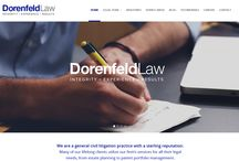 Dorenfeld Law | Web Project / A Wordpress website developed by Urbansoft to showcase professional services for a Law Firm.