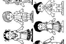 Coloriages enfants / Tous les enfants du monde entier et de tous les pays sont réunis dans ce tableau, à colorier