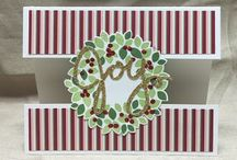 Stampin Up Wondrous Wreath / This stamp and framelit bundle is so versatile.  Of course, when you first look at it, you see Christmas, but follow this board, and I'll show you all the other occasions for which ou can use this great bundle!