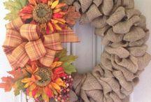 Burlap wreath diy