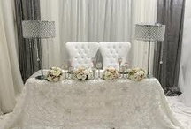 Sweetheart Tables  / Table of Honor for the Bride and Groom.