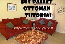 Pallet ottoman