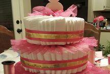 Diaper cakes I made