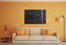 interior design with my artworks / design ispiration for  Home Decor
