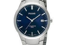 Pulsar horloge met blauwe wijzerplaat