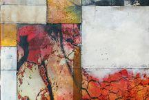 photo-encautic/encaustic paintings