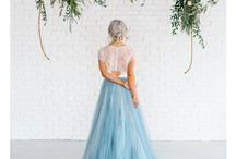 February Styled shoot- 2017 / Mystical, Romantic, earthy - Color Pallet Idea: Light Blue, Dirty Blue, Cream, Light pinks and hints of gold