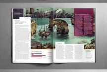 Magazine Layout Inspiration / Fantastic magazine layouts for print and web concepts. Excellent inspiration for graphic designers, web designers and folks who want to see what the latest trends are.