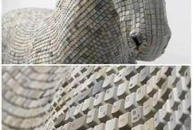 Recycle - upcycle / Inspiration board about handcraft, recycling & art