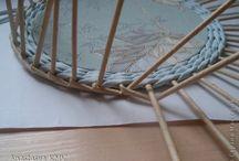 Шкатулки с картонным дном / Плетение из газет